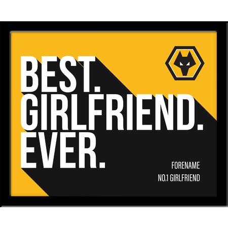Personalised Wolves FC Best Husband Ever 10x8 Photo Framed