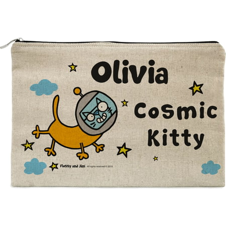 Personalised Cosmic Kitty Pencil Case