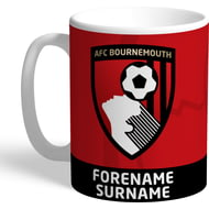 Personalised AFC Bournemouth Bold Crest Mug