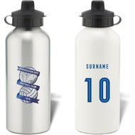 Personalised Birmingham City Retro Shirt Aluminium Sports Water Bottle