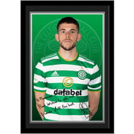 Personalised Celtic FC Christie Autograph Photo Framed