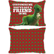 "Personalised Toy Story Rex Valentines ""You Gotta Friend In Me"" Rectangle Cushion - 45x30cm"