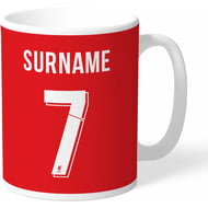 Personalised Liverpool FC Back Of Shirt Mug