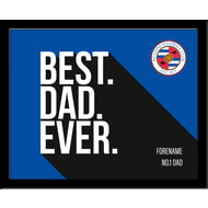 Personalised Reading Best Dad Ever 10x8 Photo Framed