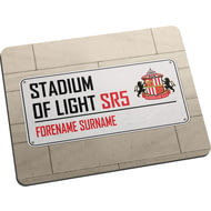 Personalised Sunderland AFC Street Sign Mouse Mat