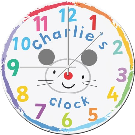 Personalised Arty Mouse Face Glass Clock