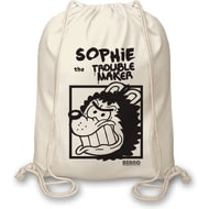 Personalised Beano Big Heads Gnasher Drawstring Bag