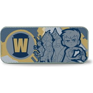 Personalised Ben 10 Blue Initial Silver Pencil Tin