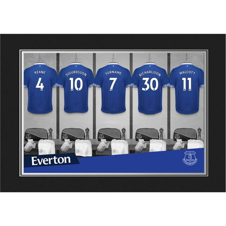 Personalised Everton FC 9x6 Dressing Room Shirts Photo Folder