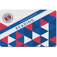 Personalised Reading FC Patterned Rubber Backed Large Floor Mat - 60x90cm