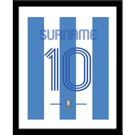 Personalised Sheffield Wednesday Retro Shirt Framed Print