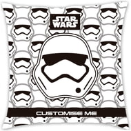 Personalised Star Wars Storm Trooper Icon Cushion - 45x45cm