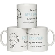 "Personalised Chilli And Bubble's ""Best Dad"" Ceramic Mug"