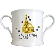 Personalised Church Christening Bone China Loving Cup