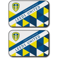Personalised Leeds United FC Patterned Rear Car Mats