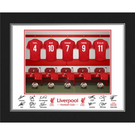 Personalised Liverpool FC Dressing Room Shirts Photo Folder