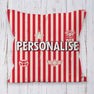 Personalised Toy Story 4 Personalised Stripe Pattern Cushion - 45x45cm