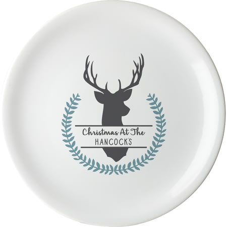 Personalised Stag Large Serving Plate