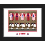 Personalised Stoke City FC Dressing Room Shirts Photo Folder