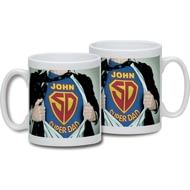 Personalised Super Dad Ceramic Mug