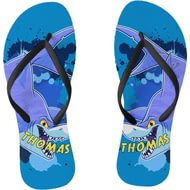 Personalised Underwater Adventure Shark Small Flip Flops