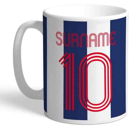 Personalised West Bromwich Albion Retro Shirt Mug