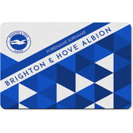 Personalised Brighton & Hove Albion FC Patterned Rubber Backed Large Floor Mat - 60x90cm