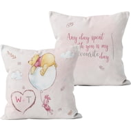 Personalised Winnie The Pooh & Piglet Any Day Spent With You Cushion - 45x45cm