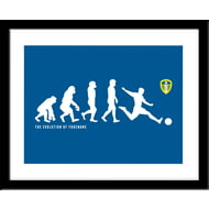 Personalised Leeds United FC Evolution Framed Print