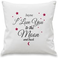 Personalised To The Moon & Back Cushion Cover