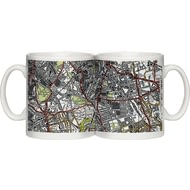 Personalised 1945 - 1948 New Popular Edition Map Of Your Postcode Ceramic Mug