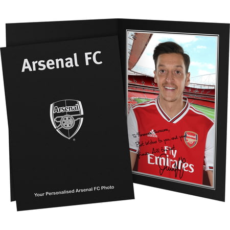 Personalised Arsenal FC Ozil Autograph Photo Folder