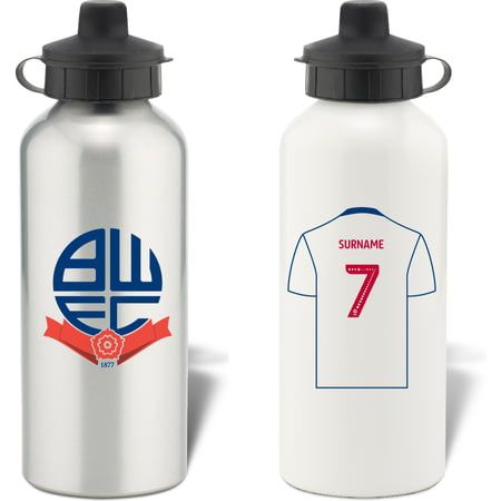 Personalised Bolton Wanderers FC Shirt Aluminium Sports Water Bottle