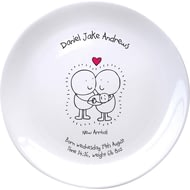 Personalised Chilli & Bubble's New Baby Plate