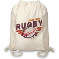 Personalised Maroon Rugby Drawstring Kit Bag