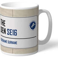 Personalised Millwall FC Street Sign Mug