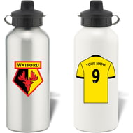 Personalised Watford FC Shirt Aluminium Sports Water Bottle