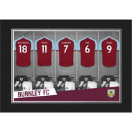 Personalised Burnley FC 9x6 Dressing Room Shirts Photo