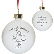 Personalised Chilli & Bubble's Jolly Christmas Tree Bauble
