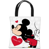 Personalised Disney Valentines Mickey Mouse Tote Bag