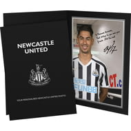Personalised Newcastle United FC Perez Autograph Photo Folder