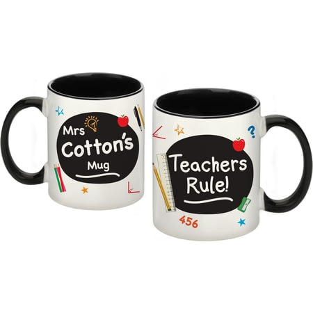 Personalised Teachers Rule Ceramic Mug