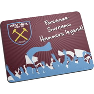Personalised West Ham United FC Legend Mouse Mat