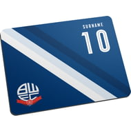 Personalised Bolton Wanderers Stripe Mouse Mat