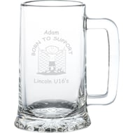 Personalised Born To Support Glass Tankard