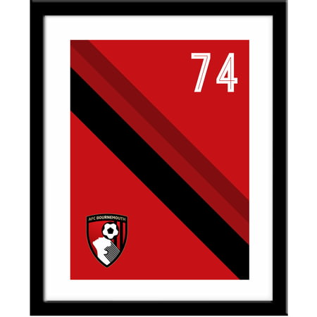 Personalised AFC Bournemouth Stripe Framed Print