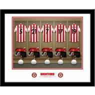 Personalised Brentford FC Dressing Room Shirts Framed Print