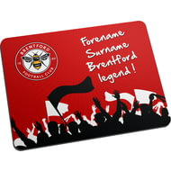 Personalised Brentford FC Legend Mouse Mat