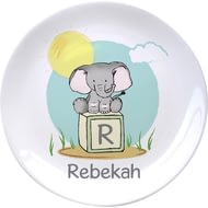 "Personalised Elephant Safari 8"" Ceramic Plate"