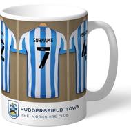 Personalised Huddersfield Town AFC Dressing Room Shirts Mug